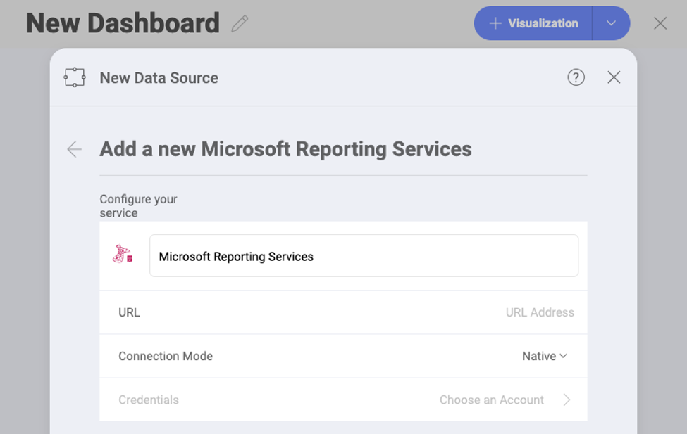 Connecting Microsoft SQL Server Reporting Services with Reveal BI