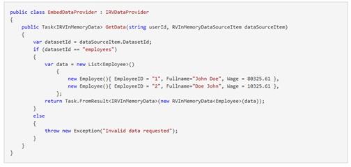 IRV Data Provider example code