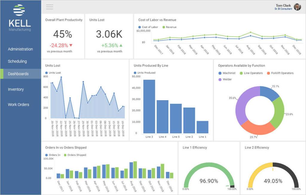 reveal embedded analytics dashboard